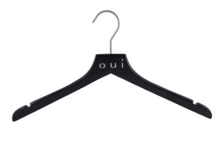 Anti-Rutsch 10 St/ück Kleiderbuegelshop24 Windsor Jacken und Mantelb/ügel mit Samt schwarz 36cm
