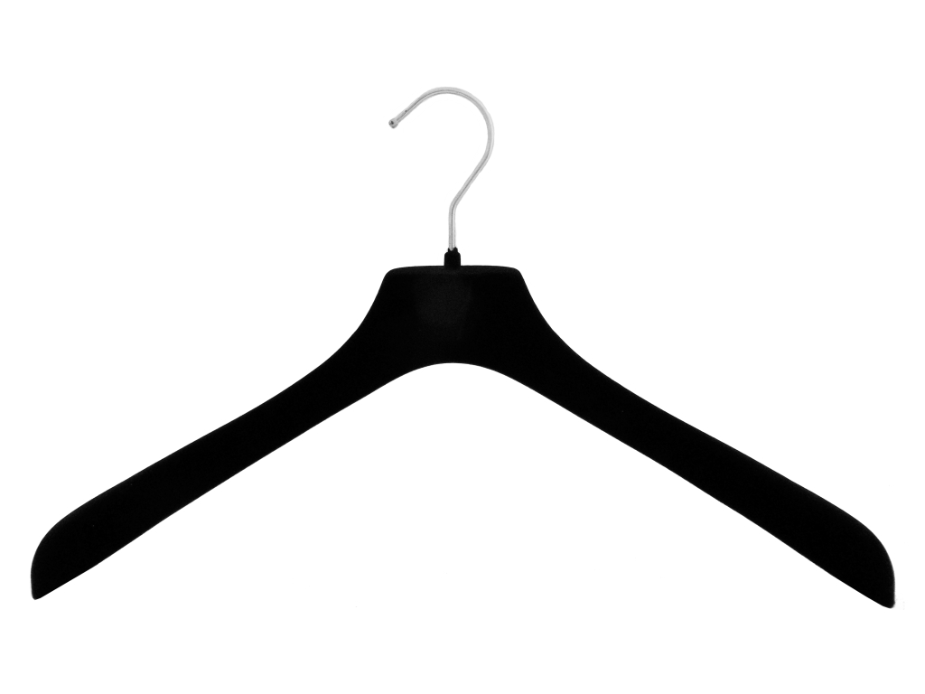 NEU 42cm edler Samtkleiderbügel für Jacken und Mäntel schwarz 50 Stück